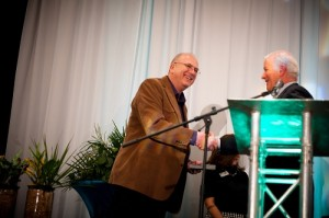 Jerry Welch receiving award